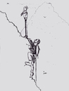Cartoon: Hard to get away from it all (small) by optimystical tagged parking,climbing,mountains,far,high,remote