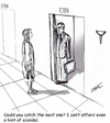 Cartoon: Paranoia (small) by optimystical tagged fear,impropriety,reasoning,others,opinion,scandal,avoidance,excuse,inuendo
