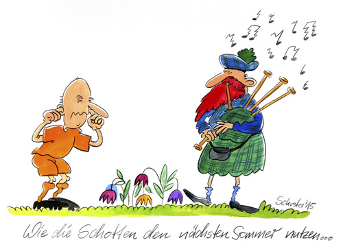 Cartoon: Fußball-EM 2016 (medium) by Mario Schuster tagged fussball,em,2016,schottland