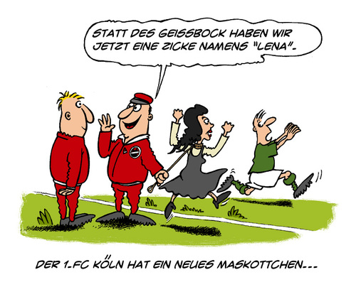 Cartoon: Was macht Lena jetzt? (medium) by Mario Schuster tagged karikatur,cartoon,lena,meyer,landrut,mario,schuster