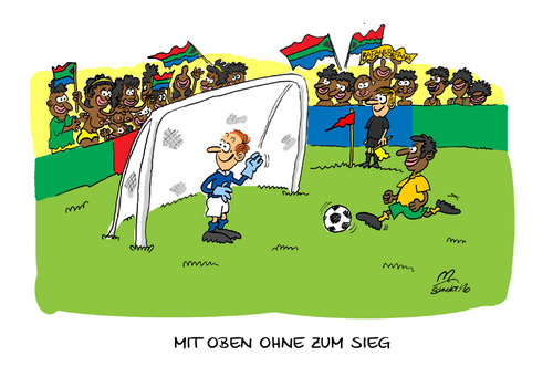 Cartoon: WM-Cartoon Südafrika (medium) by Mario Schuster tagged karikatur,caricature,worldcup,wm,football,soccer,fußball