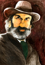 Cartoon: Dr. King Schultz (small) by Mario Schuster tagged karikatur,cartoon,mario,schuster,christoph,waltz,django,unchained
