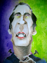 Cartoon: Sir Christopher Lee (small) by Mario Schuster tagged christopher,lee,mario,schuster,karikatur,cartoon,dracula