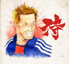 Cartoon: Keisuke Honda (small) by Thomas Berthelon tagged berthelon,thomas,worldcup,world,cup,2010,mondial,football,honda,japan