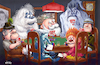 Cartoon: Christmas Cards (small) by karlwimer tagged rankin,bass,santa,playing,cards,poker,christmas,holidays