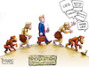 Cartoon: Devolution (small) by karlwimer tagged politics,lies,facts,devolution,evolution,election