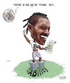 Cartoon: No AB in Team - Antonio Brown (small) by karlwimer tagged oakland,raiders,nfl,american,football,antonio,brown,jon,gruden,sports