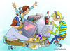 Cartoon: LAN-Party (small) by droigks tagged lan,party,computer,netzwerk,lokales,freaks,user