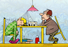 Cartoon: Schach matt (small) by droigks tagged schach,schachmeister,schachduell,schlafen,matt,konkurrenten,competitors,droigk,droigks