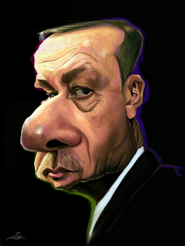 Cartoon: Erdogan (medium) by jabir tagged erdogan,turkey