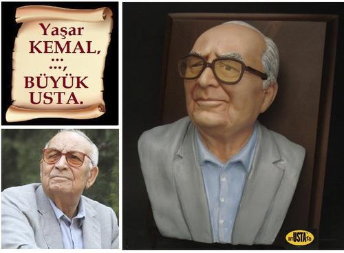 Cartoon: Yasar KEMAL (medium) by mussaygin tagged yasar,kemal,ustamustafa,polimer,kil,süper,sculpey