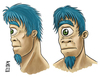 Cartoon: Cyclops head (small) by R Nishikawa tagged cyclops,head,monster