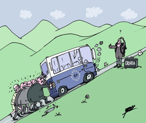 Cartoon: Welcome Croatia! (medium) by Ballner tagged eu,croatia