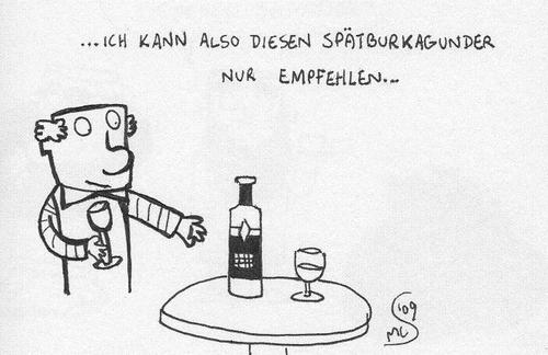 Cartoon: spätburkagunder (medium) by XombieLarry tagged wein