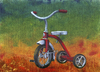 Cartoon: I Remember You (small) by birdbee tagged tricycle,trike,painting,acrylics,canvas