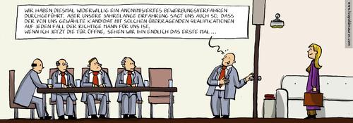 cartoon anonymisierte bewerbung medium by leopold maurer tagged bewerbung anonymfrauenquote - Anonymisierte Bewerbung