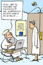 Cartoon: himmelspforte auf facebook (small) by leopold maurer tagged facebook,petrus,himmel,beliebtheit,tod
