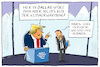 Cartoon: trump in davos (small) by leopold maurer tagged trump,präsident,usa,davos,dallas,verwechslung,weltwirtschaftsforum,genie,stabil,klimaerwärmung,rede