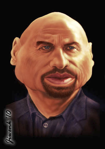 Cartoon: John Travolta (medium) by Jiwenk tagged john,travolta