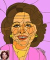 Cartoon: Arab actress Faten Hamama (small) by omar seddek mostafa tagged arab,actress,faten,hamama