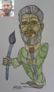 Cartoon: Artist Fathi Ali (small) by omar seddek mostafa tagged artist,fathi,ali