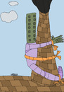 Cartoon: the city (small) by omar seddek mostafa tagged the,city