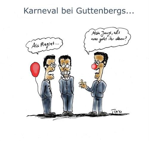 Karneval Bei Guttenbergs Von Timfuzius Politik Cartoon Toonpool