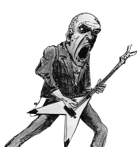 Cartoon: Mr. Devin Townsend again (medium) by timfuzius tagged devintownsend,metal,guitar,rock,canada