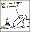 Cartoon: Na sowas... (small) by timfuzius tagged kot,hund,hundekot,stink
