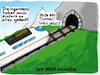 Cartoon: Erster Solar-Zug (small) by Grikewilli tagged ice,db,zug,bahn,öko,solar,alpen,berge,berg,gebirge,tunnel,reisen,verkehr,grün,erfindungen,zukunft,innovation,schweiz,österreich,deutschland