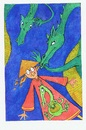Cartoon: Chinese Whispers (small) by Kerina Strevens tagged dragon,dragons,fire,talk,whisper