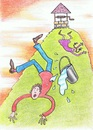 Cartoon: Jack and Jill (small) by Kerina Strevens tagged water,well,fall,jack,jill,hill,pail,nursery,rhyme,children