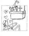 Cartoon: Romeo and Juliet (small) by Kerina Strevens tagged romeo,juliet,love,romance,hearts,fun,humour