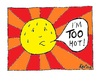 Cartoon: Sunshine (small) by Kerina Strevens tagged hot,summer,sun,shine,fun,warm,weather