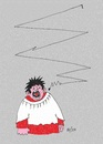 Cartoon: Trying Hard (small) by Kerina Strevens tagged sing,song,try,fail,noise,note,choir,reject,pain,ear,ache