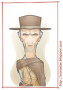 Cartoon: Clint Westernwood (small) by Freelah tagged clint,eastwood,the,good,bad,and,ugly