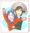 Cartoon: Joel and Clementine (small) by Freelah tagged kate,winslet,jim,carrey,eternal,sunshine,of,the,spotless,mind