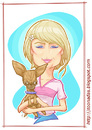 Cartoon: Paris Hilton (small) by Freelah tagged hilton,paris
