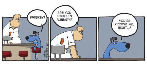 blue dog von justinas wirtschaft cartoon toonpool