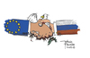 Cartoon: Dead peace (small) by Justinas tagged war,peace,russia,terrorism