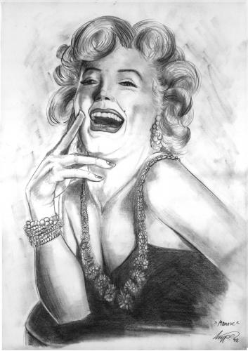 Cartoon: marilyn monroe (medium) by hype tagged merilyn,monroe,bleistift,pencil,drawing