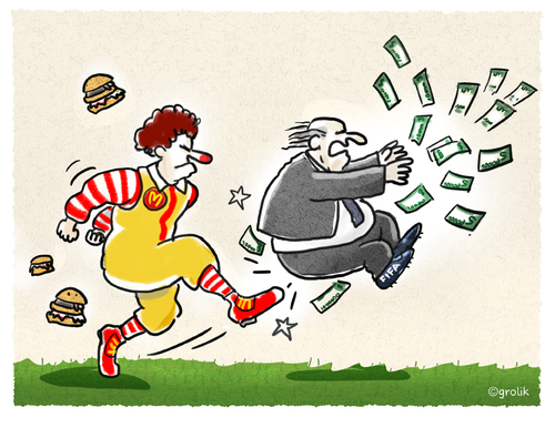 Cartoon: Big Mäc vs. Blatter (medium) by markus-grolik tagged grolik,cartoon,katar,wm,bestechung,skandal,fussball,geld,sponsoring,cola,coca,donalds,mac,sepp,blatter,fifa,dfb,dfb,fifa,blatter,sepp,mac,donalds,coca,cola,sponsoring,geld,fussball,skandal,bestechung,wm,katar,cartoon,grolik