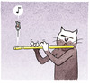 Cartoon: ... (small) by markus-grolik tagged katze,maus,musik,stubentiger,kater,nager,nagetiere,cat,cartoon,grolik