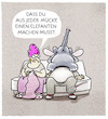Cartoon: ... (small) by markus-grolik tagged beziehung,mücke,elefant,mann,frau,redewendung,kommunikation,sprache