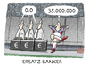Cartoon: Fussballfinanzdeals (small) by markus-grolik tagged fussball,transfer,liga,bundesliga,fussballer,manager,geld,vereine,europameisterschaft,em,wm,nationalmannschaft,fussballspieler,heirat,hochzeit,liebe
