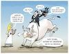 Cartoon: Orban Rodeo (small) by markus-grolik tagged ungarn,polen,rechtsstaat,veto,europa,orban,stier,abwurf