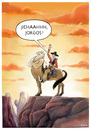 Cartoon: Zentaur goes West (small) by markus-grolik tagged wilder westen pferd cowboy sonnenuntergang pferdeähnlich kentaur mythologie griechenland amerika grand canyonsage sagengestalt verweigerung