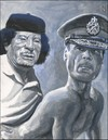 Cartoon: Gadhafi (small) by greg hergert tagged gadhafi,gaddafi,qaddafi,40,virgins