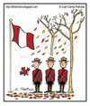 Cartoon: Fall has arrived (small) by Juan Carlos Partidas tagged fall autumn season leaf leaves mounted police mounty canada maple flag