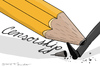 Cartoon: Censorship (small) by Mandor tagged censorship,pencil